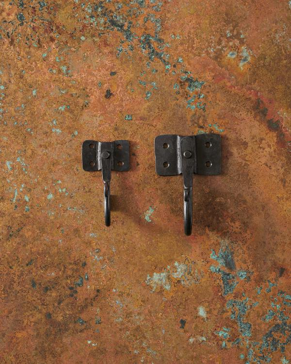 Iron Hooks with Square Backplates