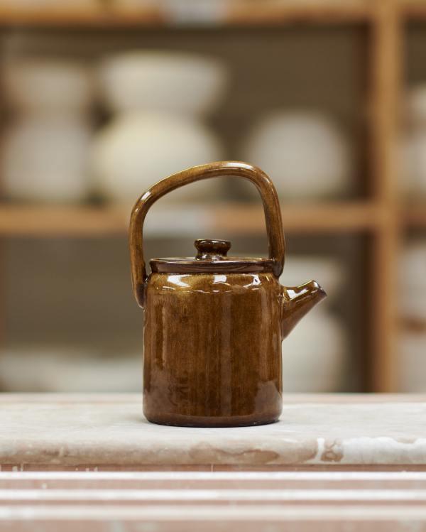 The Amber Glaze Teapot