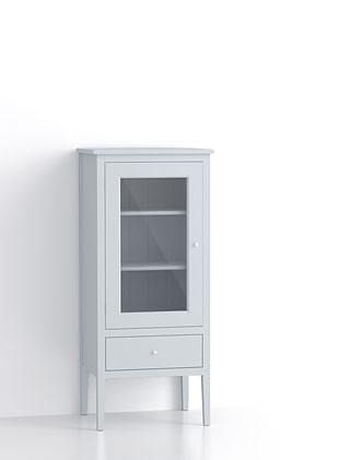 600mm Glazed Short Upright Cupboard